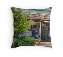 Downtown Comics~McMinnville Tennessee Throw Pillow