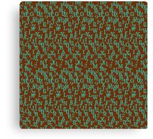 Alphabet and Number Pattern Canvas Print