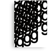 study of g 2- typographical patterns Canvas Print