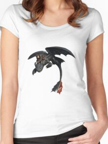 Toothless and Hiccup Women's Fitted Scoop T-Shirt