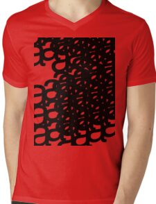typographical patterns of a Mens V-Neck T-Shirt