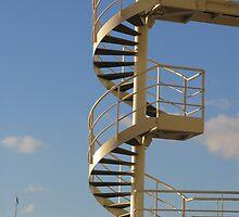 London Eye Stairway by Audrey Clarke