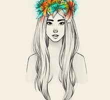 Flower Queen by raqueltraveart