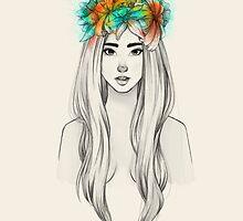 Flower Queen by raqueltraveart