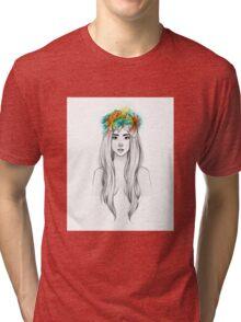 Flower Queen Tri-blend T-Shirt