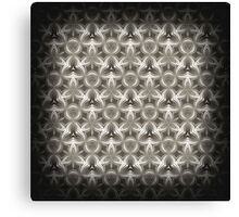 Abstract Grey Metallic Pattern Canvas Print
