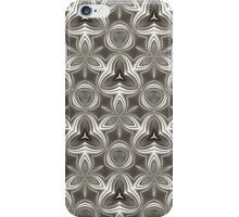 Abstract Grey Metallic Pattern iPhone Case/Skin