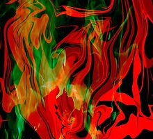 "Fire in the hole ""abstract series"" by Martin Dingli"