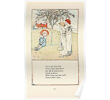 Mother Goose or the Old Nursery Rhymes by Kate Greenaway 1881 0047 Little Lad Where Wast Thou Born Poster
