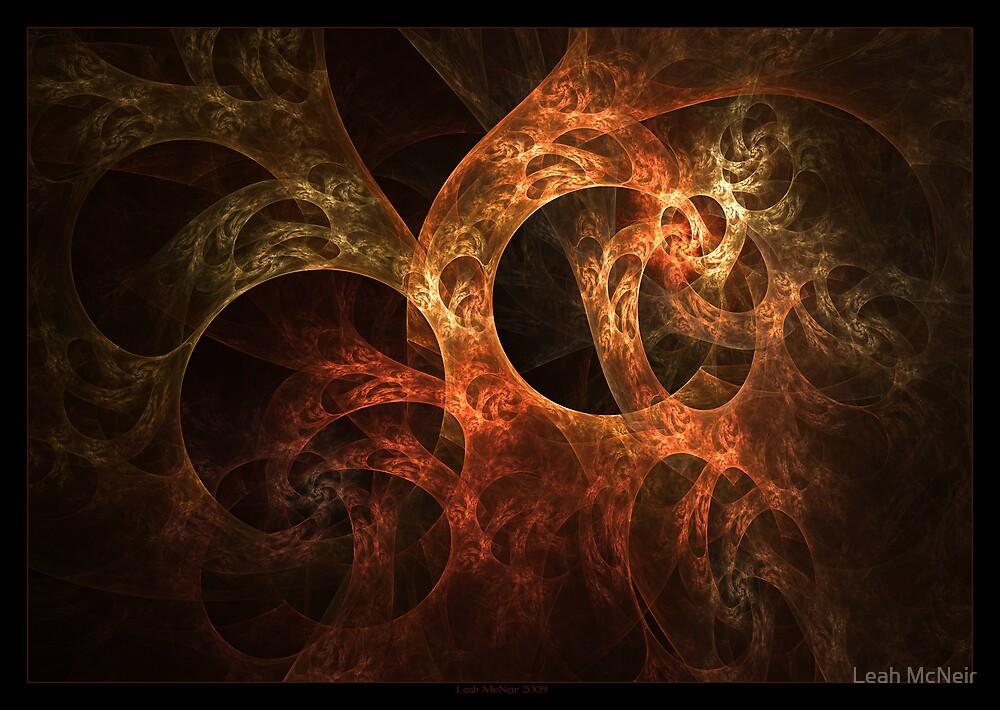 """""""Meandering Thoughts"""" - Fractal Art by Leah McNeir"""