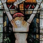 Stained glass window depicting The Crucifixion by ACSPhoto