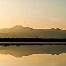 distant mountain sunset by Kevin Williams