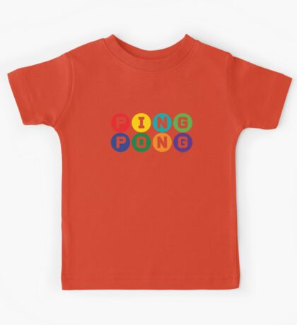 Ping Pong - primary colors Kids Tee