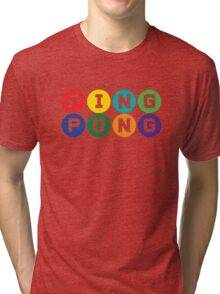 Ping Pong - primary colors Tri-blend T-Shirt