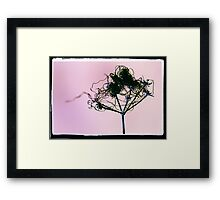 Butterfly sat on Fairy Washing Line Framed Print