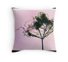 Butterfly sat on Fairy Washing Line Throw Pillow