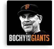 Bruce Bochy and the San Francisco Giants Canvas Print