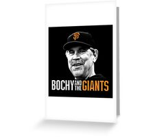 Bruce Bochy and the San Francisco Giants Greeting Card