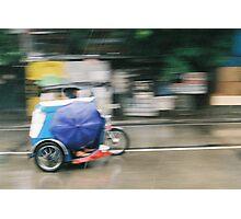 speeding tricycle Photographic Print