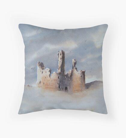 Dunstanburgh Castle, Northumberland, England Throw Pillow