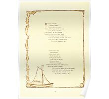 Old Proverbs with New Pictures Lizzie Laweson and Clara Mateaux 1881 0014 Rolling Shingle Sailboat Poster