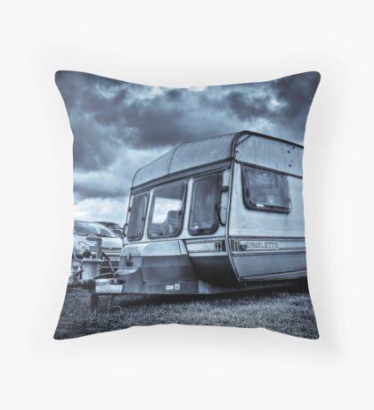 Old Caravan Throw Pillow