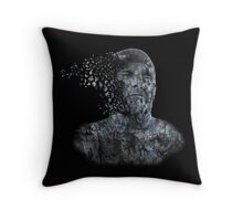 Disintegrating Sculpture Throw Pillow