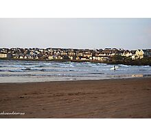 Town and Surfer - Portstewart Strand Photographic Print