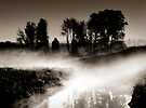 Dawn mist on the river Trent, Trentham, Staffordshire, UK. by Steve Crompton