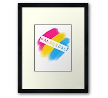 Pansexual Stripes Framed Print