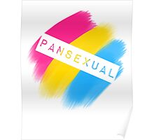 Pansexual Stripes Poster
