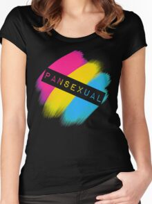 Pansexual Stripes Women's Fitted Scoop T-Shirt