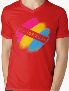 Pansexual Stripes Mens V-Neck T-Shirt