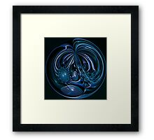©DA FS Blue (Orange) Wave FX2D V4 Sphere. Framed Print