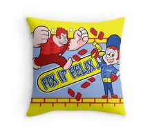Felix Fix-it Jr arcade design! Throw Pillow