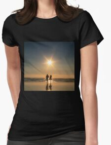 Mawgan Porth Sunset,North Coast Cornwall Womens Fitted T-Shirt