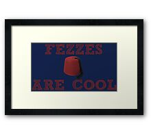 Doctor Who - Fezzes are cool #2 Framed Print