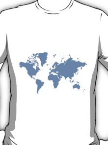 World With No Borders - powder blue T-Shirt