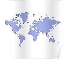 World With No Borders - periwinkle Poster