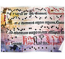 Choral Book Middle Ages - Music Vintage Art Prints Grunge Texture Poster