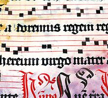 Choral Book Middle Ages - Music Vintage Art Prints Grunge Texture by Denis Marsili - DDTK