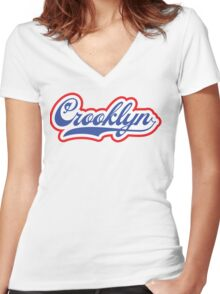 Crooklyn Women's Fitted V-Neck T-Shirt