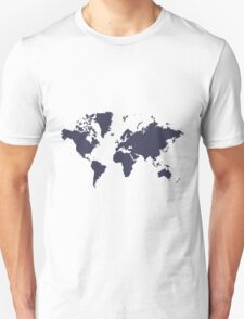 World With No Borders - navy T-Shirt