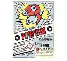 Porygon: The Digital Pokémon! Photographic Print