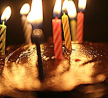 Birthday Candle glow by Patricia Cleveland
