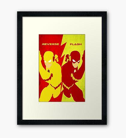 Reverse Flash VS Flash Minimalist Framed Print