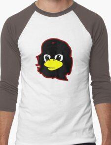 Linux tux Penguin Che guevara guerilla Men's Baseball ¾ T-Shirt