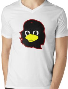 Linux tux Penguin Che guevara guerilla Mens V-Neck T-Shirt