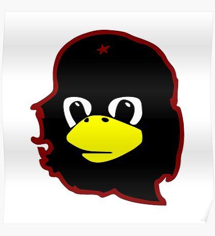 Linux tux Penguin Che guevara guerilla Poster