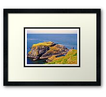 Spectacular glimpse of Carrick Island Framed Print